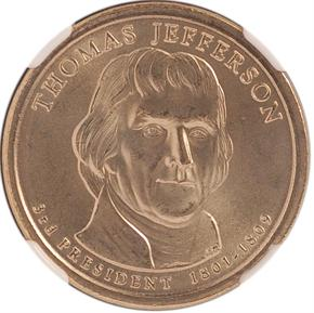 2007 D THOMAS JEFFERSON $1 MS obverse