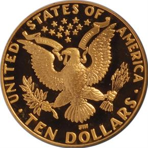 1984 D OLYMPICS $10 PF reverse