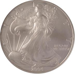 2004 EAGLE S$1 MS obverse