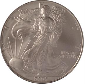 2005 EAGLE S$1 MS obverse