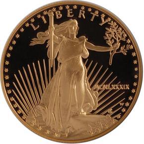 1989 W EAGLE G$50 PF obverse