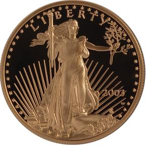2003 W EAGLE G$50 PF obverse