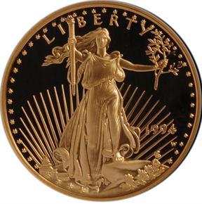 1994 W EAGLE G$25 PF obverse