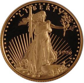 1996 W EAGLE G$10 PF obverse