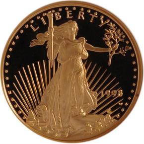 1998 W EAGLE G$10 PF obverse