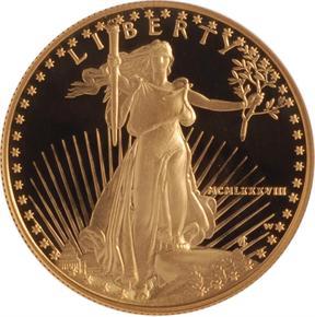 1988 W EAGLE G$50 PF obverse
