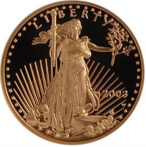 2003 W EAGLE G$10 PF obverse