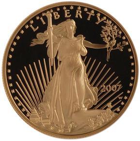 2007 W EAGLE G$50 PF obverse