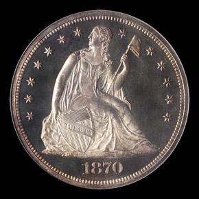 1870 S$1 PF obverse
