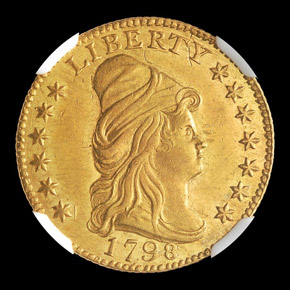 1798 $2.5 MS obverse
