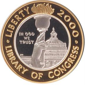 2000 W CONGR LIBRARY $10 PF obverse
