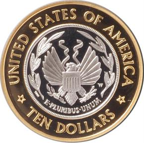 2000 W CONGR LIBRARY $10 PF reverse