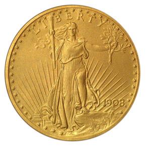 1908 MOTTO $20 PF obverse