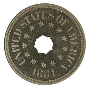 1884 J-1724 5C PF obverse