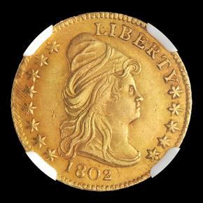 1802 $2.5 MS obverse