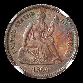 1864 H10C PF obverse
