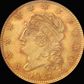 1827 $5 MS obverse