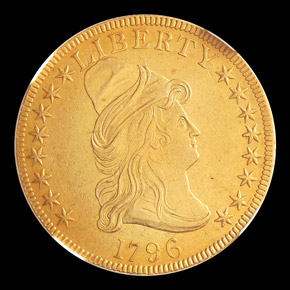 1796 $10 MS obverse