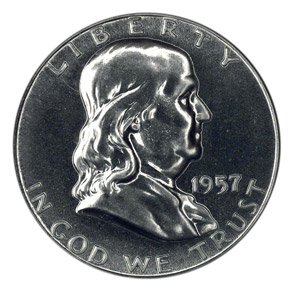 1957 50C PF obverse
