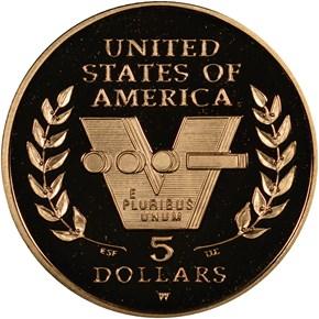 1991-1995 W W.W.II $5 PF reverse