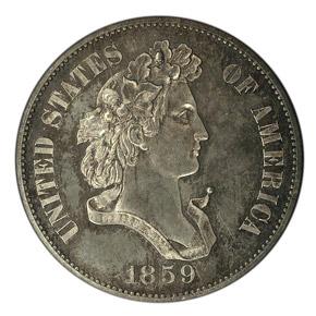 1859 J-237 50C PF obverse