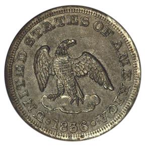 1836 J-56a 2C MS obverse