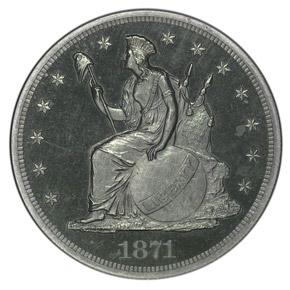 1871 J-1149 S$1 PF obverse