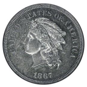1867 J-561 5C PF obverse
