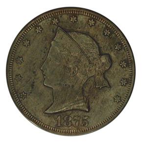 1875 J-1393 20C PF obverse
