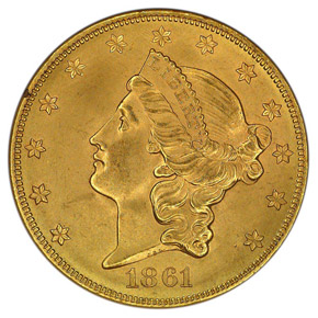 1861 PAQUET $20 MS obverse
