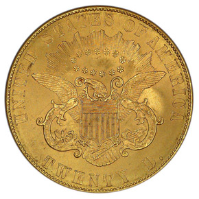 1861 PAQUET $20 MS reverse