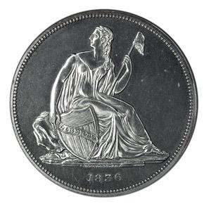 1836 SILVER GOBRECHT S$1 PF obverse