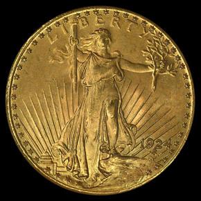 1924 $20 MS obverse