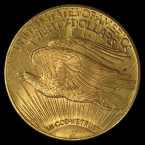 1924 $20 MS reverse