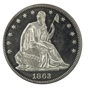 1863 J-340 50C PF obverse