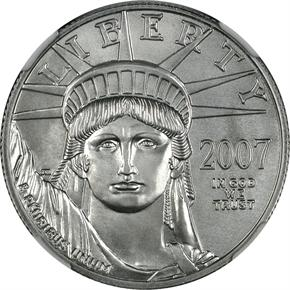 2007 W EAGLE P$50 MS obverse