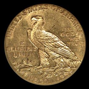 1916 S $5 MS reverse