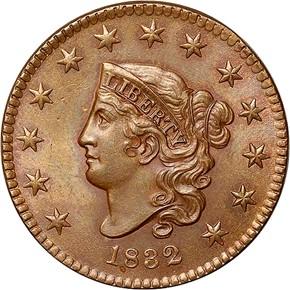 1832 1C MS obverse