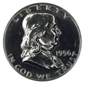 1956 50C PF obverse