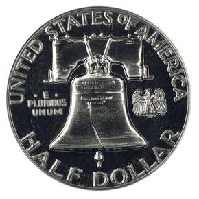 1956 50C PF reverse