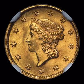 1853 G$1 MS obverse