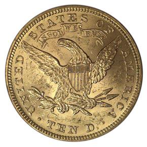 1894 $10 MS reverse