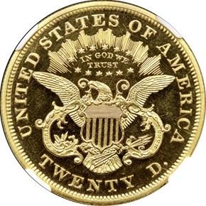 1867 $20 PF reverse
