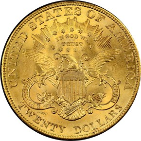 1904 $20 MS reverse