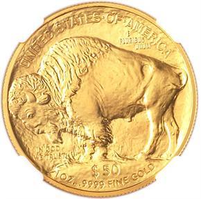 2009 BUFFALO .9999 FINE G$50 MS reverse