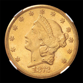 1872 CC $20 MS obverse
