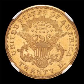 1872 CC $20 MS reverse