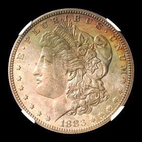 1883 S$1 PF obverse