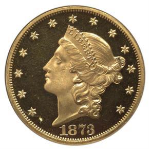 1873 $20 PF obverse