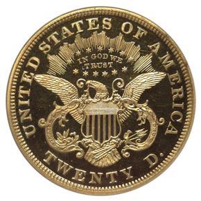 1873 $20 PF reverse
